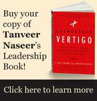 "Buy Tanveer Naseer's NEW Book ""Leadership Vertigo""!"