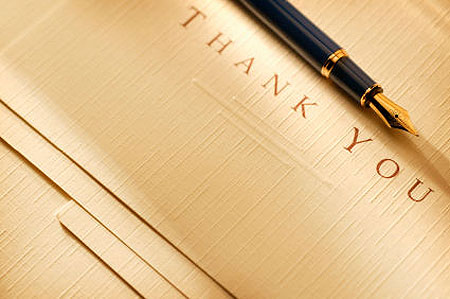a thank you note for my readers