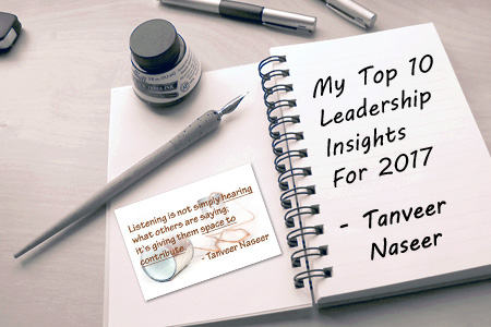 A look back at my Top 10 leadership insights from 2017 and what they reveal about how leaders can be successful in the year ahead.
